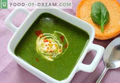 Spinaziesoep - Bewezen recepten. Hoe goed en smakelijk spinazie soep koken.