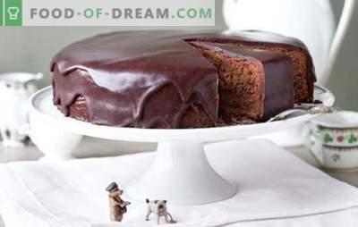 Sacher Cake: snel een heerlijke cake bereiden. Sacher cake: een selectie van recepten: klassiek, Weens, mager en anderen