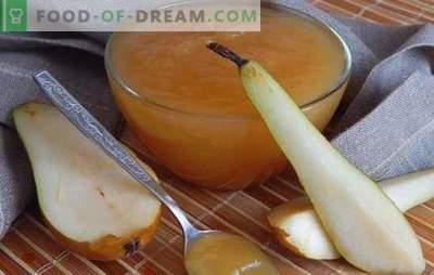 Jelly iz hruška - ne ottyanesh z ušesi! Recepti mešani in preprosti marmelada iz hrušk za zimo v počasnem štedilniku in na štedilniku