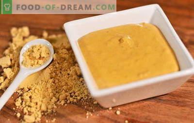 Speciale recepten voor het maken van mosterdpoeder in huis. Mosterd uit huispoeder: het geheim van pittige kruiden