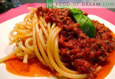 Bolognese saus - de beste recepten. Hoe te om saus Bolognese behoorlijk te koken en te koken.