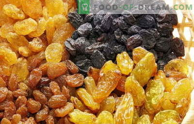 Rozijnen - beschrijving, eigenschappen, gebruik bij het koken. Recepten met rozijnen.