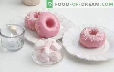 Glazuur voor donuts - de perfecte afwerking! Recepten van verschillende chocoladesuikerglazuren voor donuts gemaakt van cacao, chocolade, poedersuiker, eiwitten