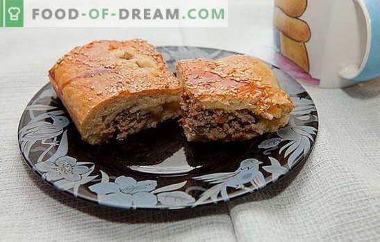 Kunnen we een taart maken met gehakt vlees? Waar is het recept? Het koken van vleespastei met gehakt is een interessant proces
