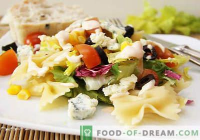 Салата со маслинки - пет најдобри рецепти. Како правилно и вкусно да се подготви салата со маслинки.
