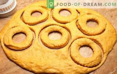 Deeg voor donuts is verantwoordelijk voor de smaak! Recepten voor verschillende deeg voor donuts met melk, kefir, kwark, op het water