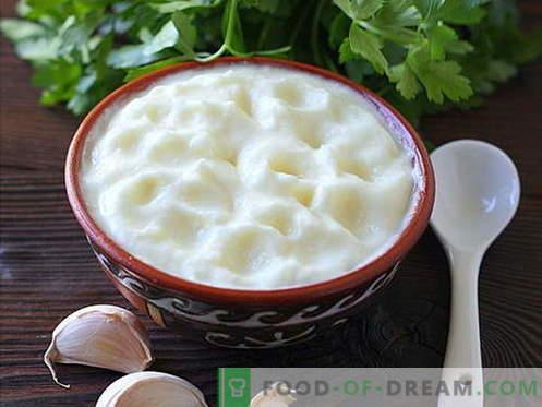 Knoflooksaus - de beste recepten. Hoe goed en smakelijk knoflooksaus koken.