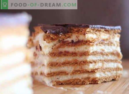 Koekjescakes zijn de beste recepten. Hoe goed en smakelijk een cake maken van cookies.