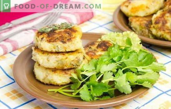 Aardappelkoekjes met een vulling - een ongewoon gerecht van de gebruikelijke producten. Recepten aardappeltaartjes met kaas, eieren, champignons, vlees