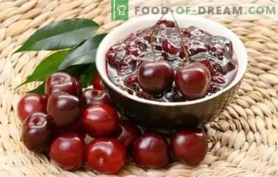 Eenvoudige kersenjam in een slowcooker. Recepten cherry jam in een slowcooker, met cognac, noten en gelei