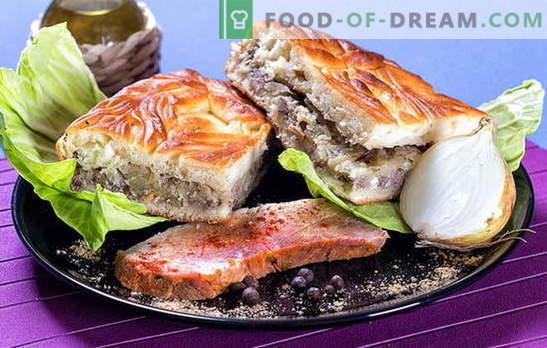 Taart met kool en vlees: vullende ideeën voor hartig gebak. Soorten deeg voor taart met kool en vlees: de beste recepten