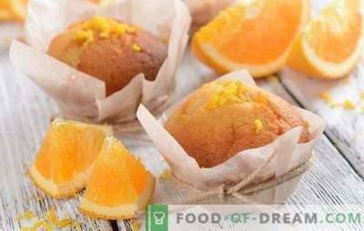 Oranje muffins - vrolijk op! Recepten van geurige, zachte, zoete en luchtige oranje muffins