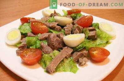 Salades met vlees - de beste recepten. Hoe goed en smakelijk koken vleessalades.