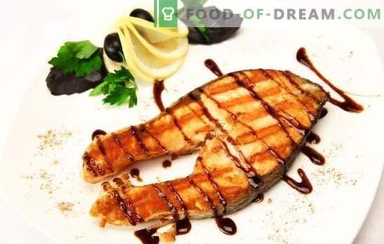 Gegrilde zalm: nobele vis - waardig koken! Met gember, groenten in citroenmarinade: verschillende gegrilde zalmgerechten