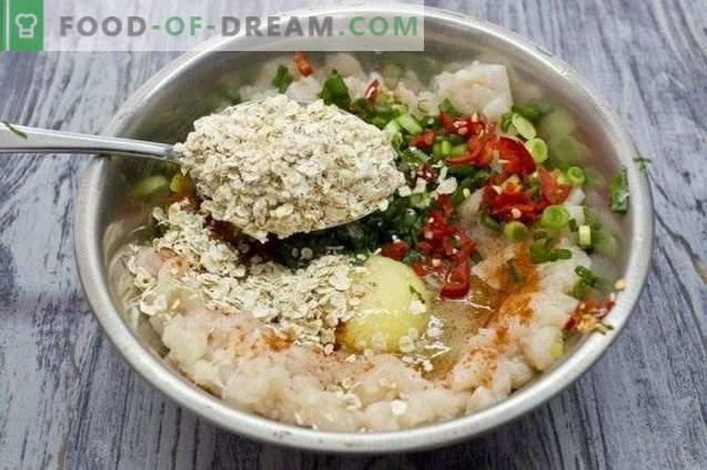 Kipfiletpasteitjes met spinazie en kaas