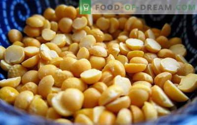 Hoe erwten te koken: geel, groen, bruin? Verschillende manieren om gedroogde, verse en diepgevroren erwten te koken: eenvoudige en complexe recepten