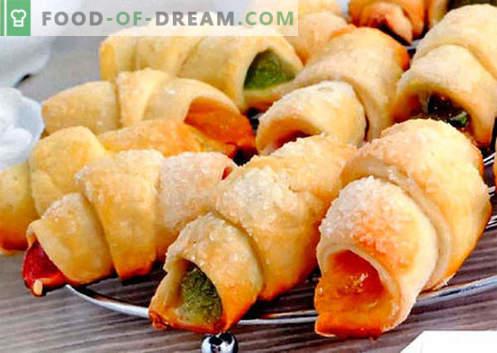 Bagels met vulling zijn de beste recepten. Hoe goed en smakelijk gekookte bagels met vulling.