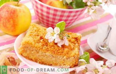 Gestremde appeltaart - verrassend eenvoudig! Recepten geweldige wrongelpastei met appels; zacht en sappig