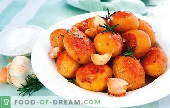 Jonge aardappelen in een slowcooker - een smakelijk gerecht in de herfst. Recept voor jonge aardappelen in een slowcooker: gebakken, geroosterd, gestoofd