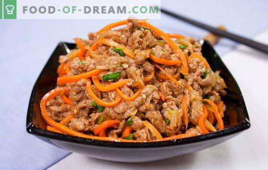 Xe van wortelen - vuur voorgerecht! Geurige recepten met wortelen met vlees, vis, champignons, aubergine, kip