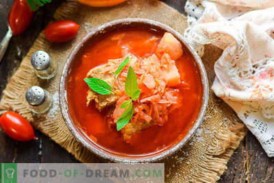 We cook the most delicious Ukrainian borsch according to the classic recipe