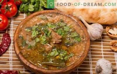 Gekruide lamskharcho is een klassiek Kaukasisch recept. Hoe een klassieke lamb-charcho te bereiden met toevoeging van