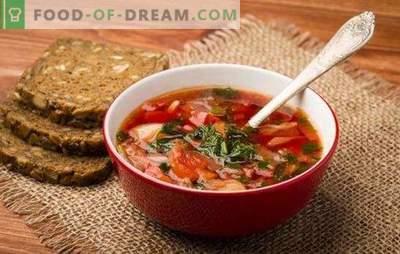 Russische soep: geheimen van wereldfaam. Recepten van oude en nieuwe Russische soep: zuur, fris, groen, met kwas, met asperges