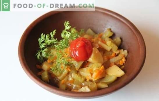 Aardappelen met courgette in een slowcooker - snel en smakelijk. Recepten voor het koken van aardappelen met courgette in een slowcooker: vegetarisch en vlees