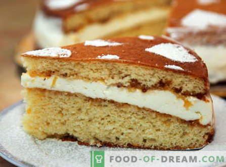 Sponge cake - de beste recepten. Hoe goed en smakelijk koken biscuitgebak.