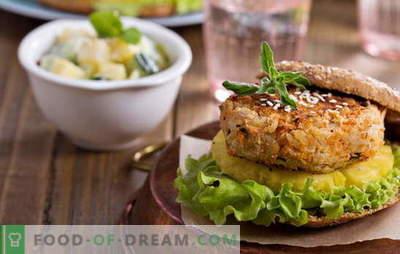 Bean-schnitzels - geen vlees en geen behoefte! Recepten van verschillende boonkoteletten met groenten, ontbijtgranen, kip, worst
