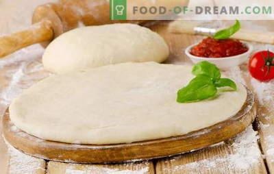 Heerlijk pizzadeeg - de beste recepten. Hoe een heerlijk pizzadeeg te koken: op gist, op kefir, op mineraalwater
