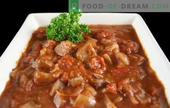 Rundergoulash in een slowcooker - dikke soep of vlees met jus? De beste recepten voor rundvleesgoelasj in een multivac met tomaten, zure room