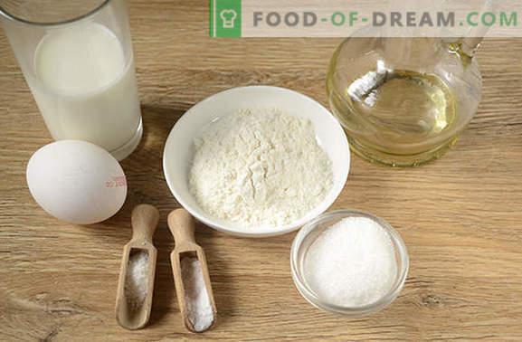 Pannenkoeken met melk: droge Amerikaanse versie van de gebruikelijke beignets! Auteur's stapsgewijze fotorecept van pannenkoeken op melk - eenvoudig lekker