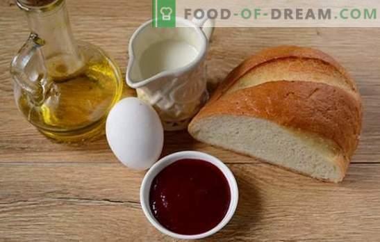Croutons met melk in een ei: snack in vijf minuten! Croutons koken met melk in een ei: een stapsgewijs foto-recept