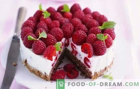 Frambozencake is een zomerse verleiding voor zoete tanden. Recepten voor frambozen-zomercakes: frambozen in dessert - het leven is goed!