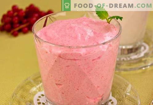 Cranberry-mousse - de beste recepten. Hoe cranberry-mousse op de juiste en smakelijke wijze te bereiden.