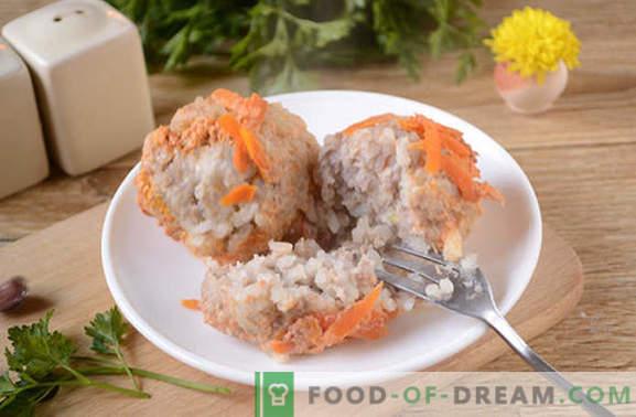 Gehaktballen in tomatenzure roomsaus in een slowcooker - niets gefrituurd! Stapsgewijs foto-recept voor gehaktballen in een slowcooker van gehakt met rijst