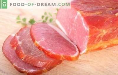 Varkensvleesbalk is thuis een natuurproduct! Technologie voor het bereiden van balyk bij varkensvlees thuis