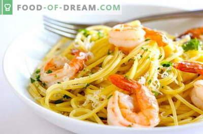 Pasta met zeevruchten - de beste recepten. Hoe pasta met zeevruchten te koken.