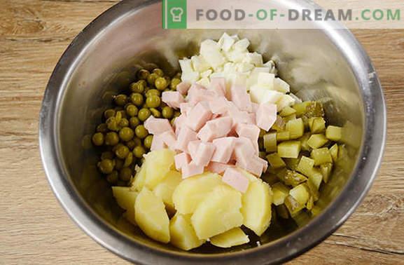 Olivier: de meest populaire salade op de vakantietafel! Klassieke salade Olivier: een stapsgewijs foto-recept met de geheimen van de auteur om de smaak van het gerecht te verbeteren
