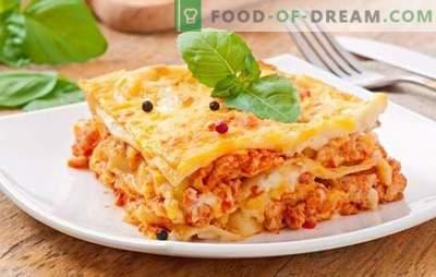 Lasagna Bolognese - diner is Italiaans! Populaire recepten voor het voeden van lasagne