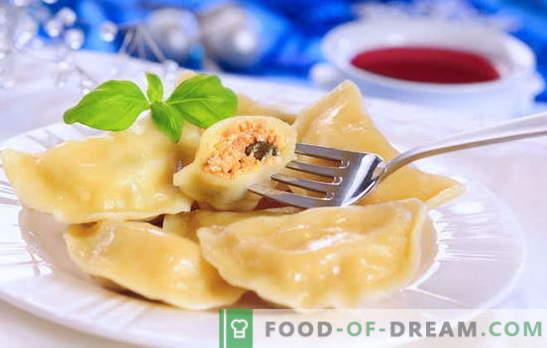 Zelfgemaakte dumplings - een gerecht voor alle tijden. Voor fans van zelfgemaakte dumplings: acht eenvoudige recepten met kersen, champignons, kwark, vlees