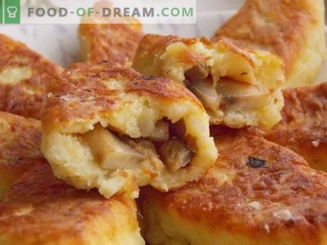 Aardappelzout met champignons