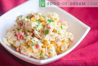 Krabsalade - de beste recepten. Hoe goed en lekker een salade van krabsticks te koken.