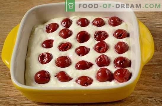 De meest eenvoudige en smakelijke kwark braadpan met kersen: snel, lekker, gemakkelijk! Stapsgewijs foto-recept voor een geweldige curd-braadpan met wijn