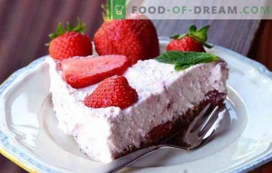 Ricotta-cake is een gezond en smakelijk dessert! Recepten eenvoudige en ricotta cake met gelatine, bessen, chocolade