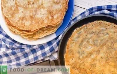 Pannenkoeken op water met eieren: een stapsgewijs recept voor een traditioneel Russisch gerecht. Klassieke en gevulde pannenkoeken koken op water met eieren (stap voor stap)