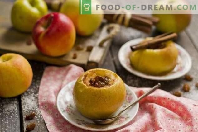 Gebakken appels met honing en gedroogde vruchten