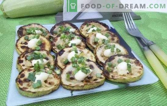 Gefrituurde courgette: recepten voor snelle en smakelijke gerechten. Recepten snelle en smakelijke courgette gebakken in beslag, zure room, helemaal gepaneerd