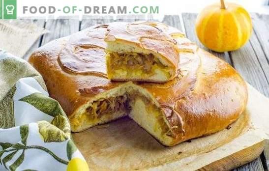 Snelle kooltaarten - voed iedereen! Recepten snelle pastei met kool van aspic, zandkoek, bladerdeeg